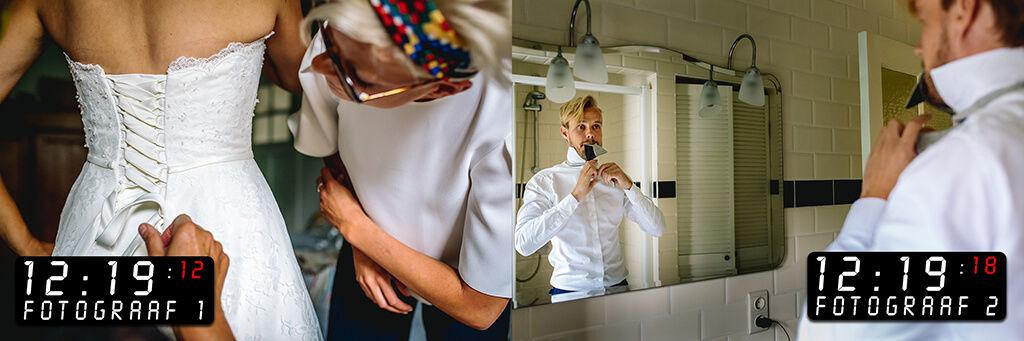 twee fotografen op jullie bruiloft