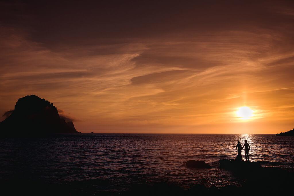 trouwen in italie zonsondergang